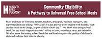 Community Eligibility Factsheet