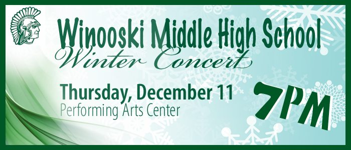 WMHS Winter Concert 12/11/2014, Click for more information