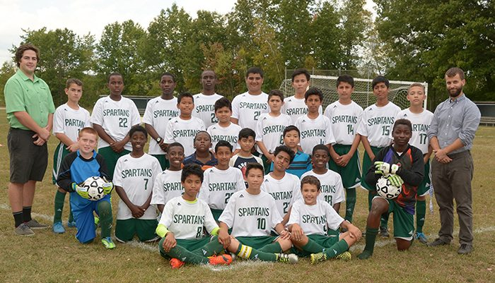 Middle School Boys Soccer Roster Picture 2016