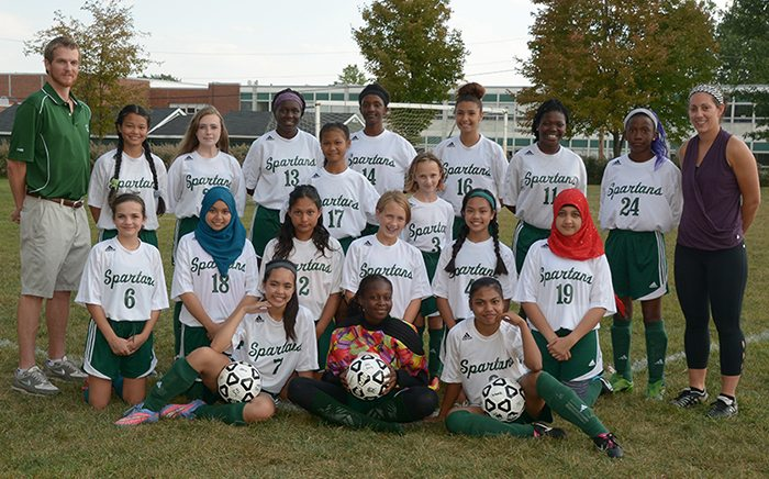 Middle School Girls Soccer Roster Picture 2016