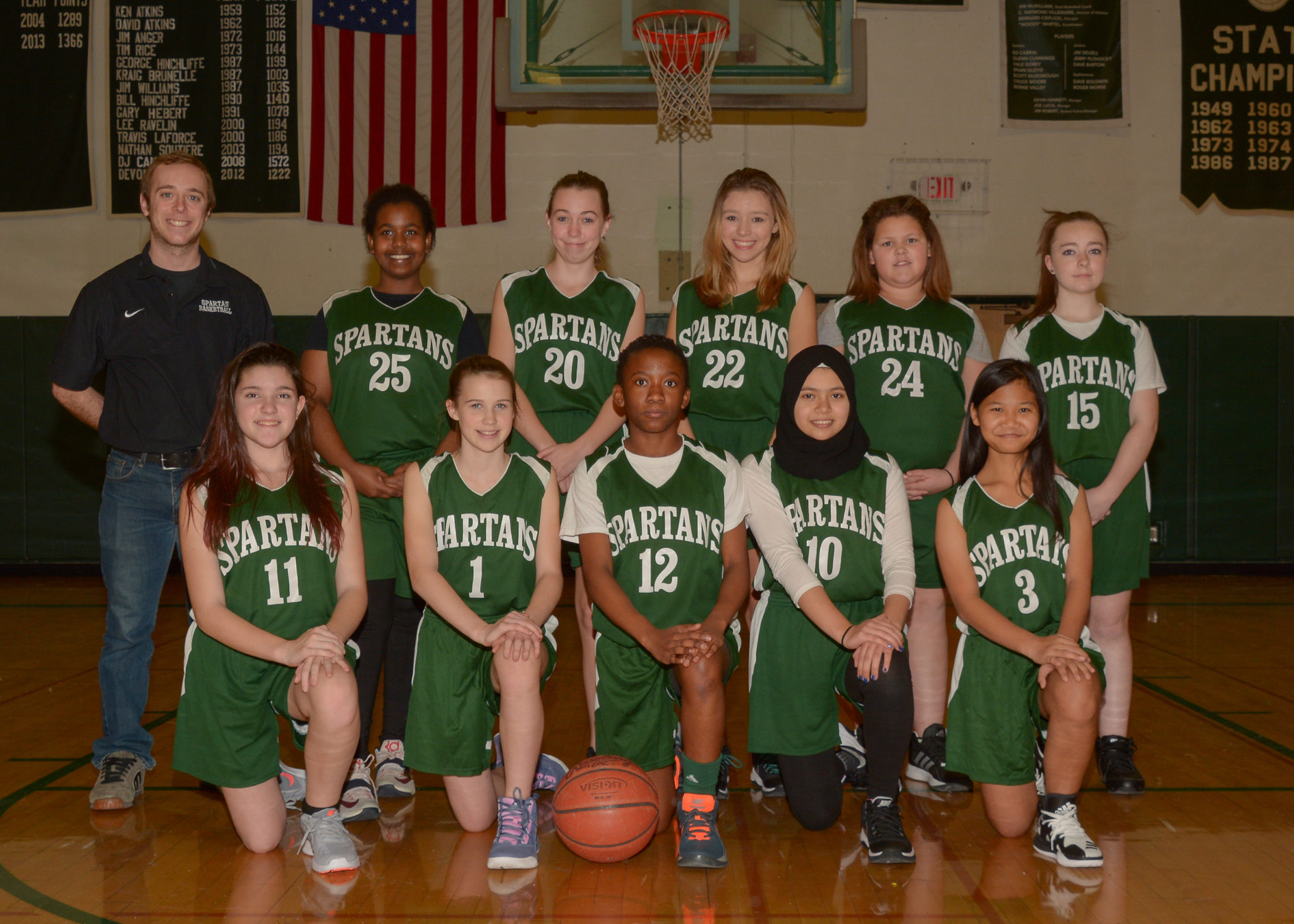 Middle School Girls Basketball Roster Picture 2016