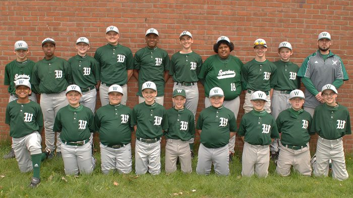 Middle School Baseball Roster Picture 2016