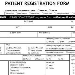 Patient Registration Form Preview Image